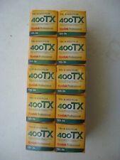 Kodak Tri-X : lot de 10 pellicules noir et blanc, format 24x36; péremption 2019