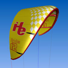 New 12m2, flyHelium Aruba kiteboarding Kite (Yellow). Ideal for all levels.
