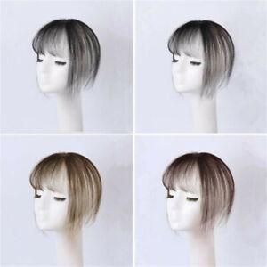 Human Hair Topper Hairpiece Toupee Handmade 3D Air Bang Top Replacement