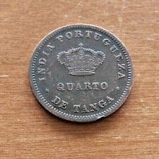 INDIA-PORTUGUESE - GOA - 1/4 TANGA - 1881 - COPPER - SCARCE -
