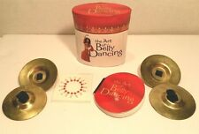 Sexy Bali Belly Dancing Purse Pocket Kit Book Finger Brass Cymbals Stick Jewels