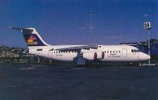 POSTCARD     AVIATION    BAe  146 - 200  at  Christchurch  NZ