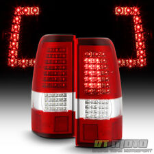 1999-2002 Chevy Silverado GMC Sierra 1500 2500 3500 Red C-Strip LED Tail Lights
