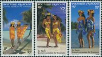 French Polynesia 1990 Sc#546-548,SG596-598 World Tourism Day set MNH