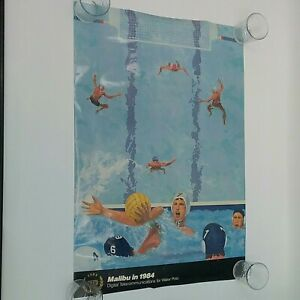 1984 US Summer Olympics Water Polo Malibu Poster GTE