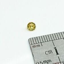 NATURAL CITRINE – 4.0mm Round Cut Brilliant Yellow Citrine Loose Gemstone – F...