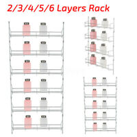 3/6 Tier Wall Mount Kitchen Shelf Cabinet Organizer Spice Rack Pantry Jar Holder