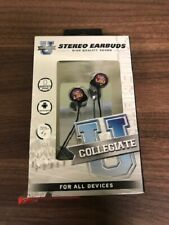 LSU Tigers Wired Stereo Earbuds Works With iPhone Android Samsung Galaxy S 9E