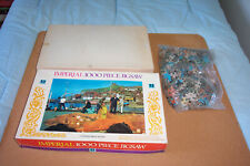 "TOWER PRESS 'IMPERIAL' 1000 PIECE VINTAGE JIGSAW: ""NET MENDING AT WHITBY"""