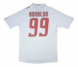 AC Milan 2007-08 Original Away Shirt Ronaldo #99 (Fair) L Soccer Jersey