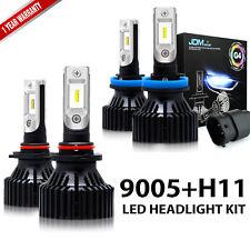 JDM ASTAR 6500K 8000LM LED Headlight High & Low Beams Bulbs 9005 HB3 H11 2 Pairs