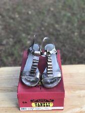 Vaneli Shoes Size 8.5 1/2 M Lorinda Platino Gesakid High Heel Leather Metalic