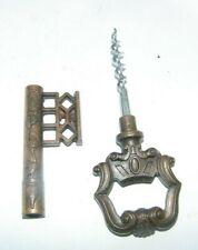 """vintage old fancykey cork screw 6"""" long barware"""