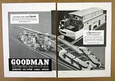 1938 Goodman Type 360 Track Loader & 75-A Battery Locomotive vintage print Ad