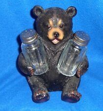 Vintage Black Bear Salt & Pepper Set