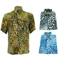 Regular Fit Short Sleeve Shirt Loud Originals Animals Leopard Tiger Print