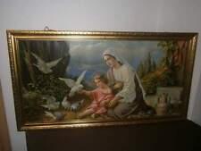 Bild - Druck - Heiligenbild - Maria mit Jesukind und Tauben - 110 x 60 cm