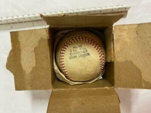 Vintage Double Header Baseball #93 Official Babe Ruth League Baseball With Box