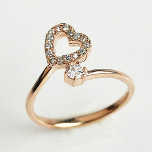 ADJUSTABLE Solid Metal Toe Ring 14 k Rose Gold Plated Silver & cz