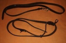 SIDE REINS BROWN  LEATHER ONE SIZE 4 BRIDLE SADDLE RY TACK, QUICK DISPATCH