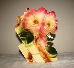 Vintage Rare McCoy Pink Magnolia Vase
