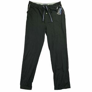 Nautica Mens Anchor Knit Drawstring Sleep Pajama Pants Black L