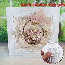 Basket Metal DIY Cutting Dies Stencil Scrapbook Album Paper Card Embossing Craft