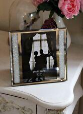 Cristal rempli Miroir Strass Cadre photo 5x7 Argent Grande Bijoux