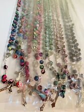 Wholesale lots of 12pcs Religious Rosary Necklace(Rose Design) Ship from Ny