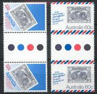 Australia 1981 50th Anniv UK Air Mail Flight traffic light gutter pairs MNH mint