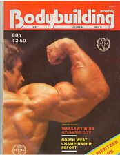 BODYBUILDING MONTHLY muscle magazine/Mike Mentzer with poster 5-83 G.B.