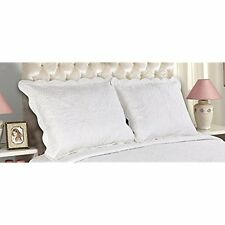 All Categories For You 2-Piece Embroidered Quilted Pillow Shams-standard Size