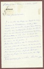 Joseph E. Bourgeois, French WWI General, Autograph Letter Signed, 1932, COA