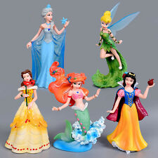 5 Disney Beauty & Beast Belle Tinkerbell Cinderella Action Figures Doll Kids Toy
