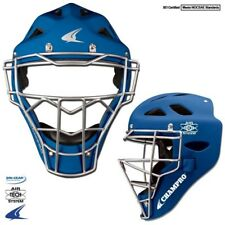 Champro Rubberized Matte Finish Catcher's Hockey Style Helmet & Mask Youth Royal