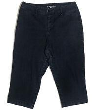 St. John's Bay Capri Pant Size 10 Dark Wash Denim Cropped Stretch Pocket