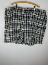 CJ Banks Womens Shorts SZ26W Plaid Black Tan 4 Pockets Elastic Sides A17