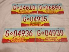 New Mexico Government Used Condition USA American License Number Plate