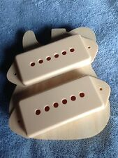 P-90 Pickup Dogear Cover Set-2 Cream fits Gibson Les Paul ES-175 ES-225 Project