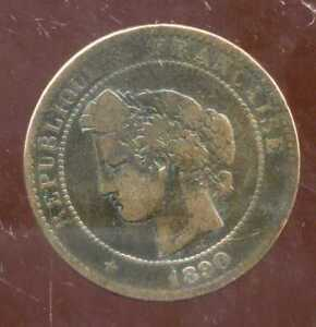 FRANCE  FRANCIA   10 centimes ceres 1890 A   ( 1 )