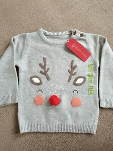 Boys/girls M&S Christmas Jumper Size 18-24 Months Bnwt