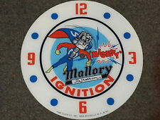 """*NEW*14.25"""" MALLORY IGNITION HOT ROD GAS MOTOR OIL RD GLASS FACE PAM CLOCK"""