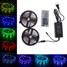 10M 3528 RGB 600LEDs SMD LED Lichtleiste Kit + 44 Schlüssel IR + 12V 5A Netzteil