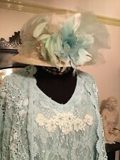 Ann Balon Bespoke Italian Lace Mother Of The Bride Outfit Suit and Hat XXL 20 22