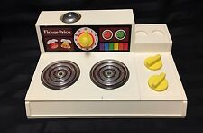 VINTAGE FISHER PRICE STOVE COOK TOP  #919 MAGIC BURNERS 1978