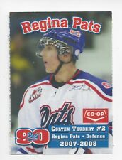 2007-08 Regina Pats (WHL) Colten Teubert (Nürnberg Ice Tigers)