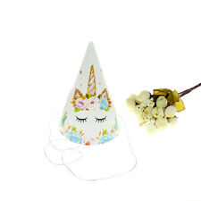 6pcs Unicorn Theme Paper Caps Birthday Hats for Kids Birthday Party Decor ##