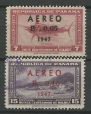 No: 63860 - PANAMA (1947) - AIR MAIL -LOT OF 2 OLD STAMPS w. OVERPRINTS - USED!!