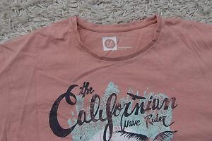 T-Shirt Herren Größe M - California -Orange Weiß Schwarz - Shirt H93