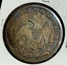 1846 P Seated Liberty Silver Dollar $1 High Grade Old US Coin ( Original Toned )